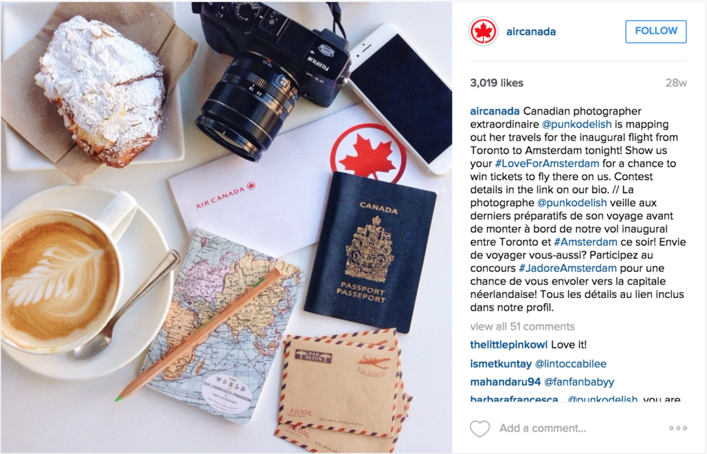 Air-Canada-caso-de-estudio-social-media-en-instagram
